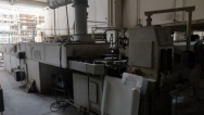 Production line with leather hard dryer for cups, used