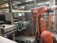Double-Jiggering machine with micro wave dryer,  used